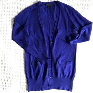 J.Crew  Cobalt blue Cardigan